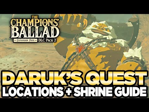 connectYoutube - Daruk's Song - Locations & Shrine Guide The Champions Ballad Breath of the Wild | Austin John Plays