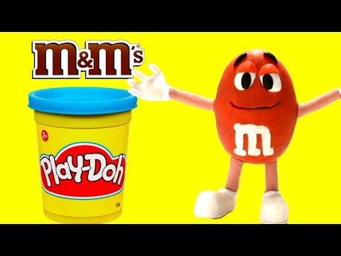 connectYoutube - Making clay m&m's - Superhero Play Doh Cartoons & Stop Motion Movies for kids