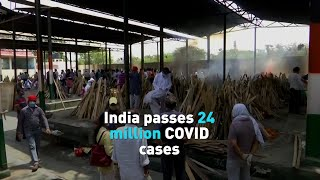 India passes 24 million confirmed COVID cases