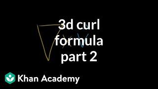 3d curl formula, part 2