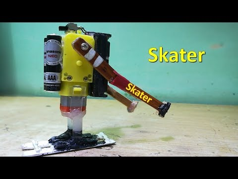 How to make an easy skating  robot