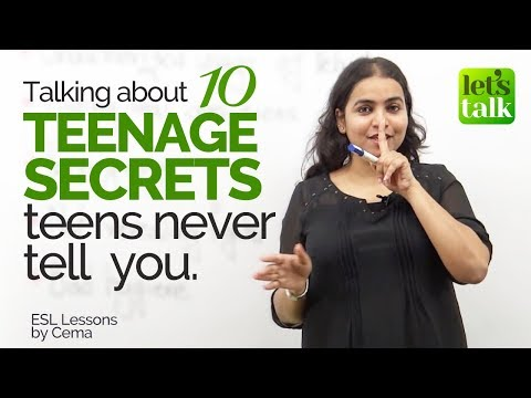 connectYoutube - 10 Teenage Secrets Teens Never Tell You - English Conversation Lesson - Listening Practice