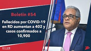 Fallecidos por COVID-19 en RD aumentan a 402 y casos confirmados a 10,900