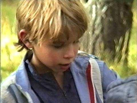 Осенний походик в 1995 г ... children, forest, hike ))