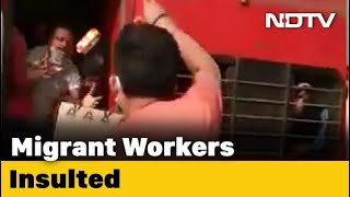 On Camera, Railway Officer In UP Throws Biscuits At Migrants, Abuses Them - NDTV