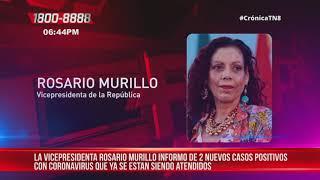 Dos nuevos casos positivos de coronavirus en Nicaragua