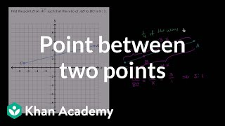 Finding a point part way between two points
