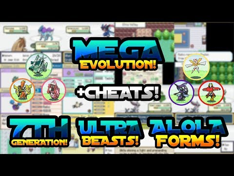NEW POKEMON GBA ROM HACK WITH MEGA EVOLUTION, 7TH GEN, ULTRA BEASTS, ALOLA FORMS WITH CHEATS!
