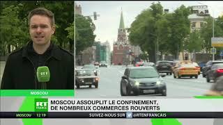 Russie : le déconfinement s'amorce à Moscou, de nombreux commerces peuvent rouvrir
