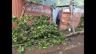 Fuertes lluvias provocan problemas en viviendas de Amatitlán