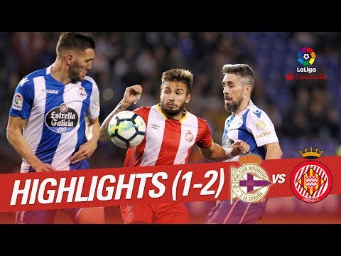 Resumen de RC Deportivo vs Girona FC (1-2)