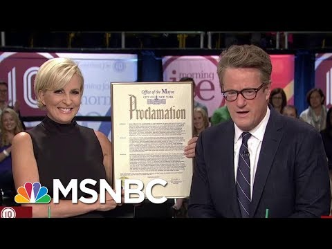 Mayor Bill De Blasio Declares Sept. 19, 2017 'Morning Joe Day' | Morning Joe | MSNBC