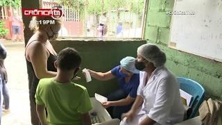 Familias del barrio Pantasma reciben a las clínicas móviles - Nicaragua
