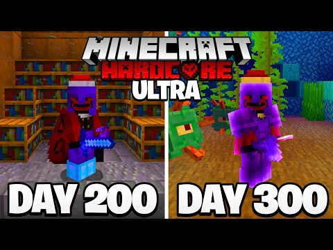 I Survived 300 Days in ULTRA HARDCORE Minecraft...