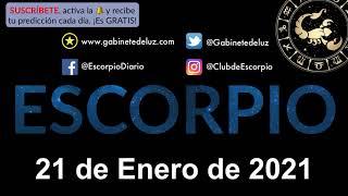 Horóscopo Diario - Escorpio - 21 de Enero de 2021.