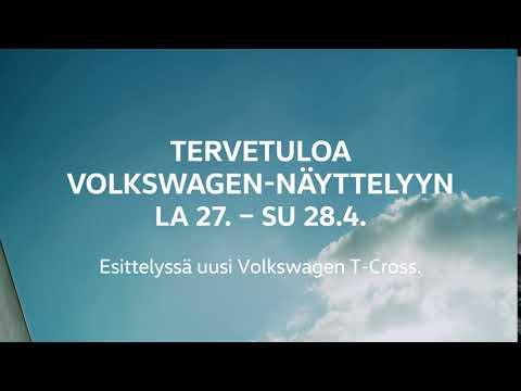 Volkswagen Viikonloppunäyttely La 27.- Su 28.4. Ensiesittelyssä uusi T-cross.  Uusi T-Cross on monikäyttöinen, käytännöllinen ja moderni uutuus. Volkswagenin SUV-perheen pienimmässä on kokoaan paremmat varusteet ja hyvin tilaa jopa viidelle matkustajalle. Liukuvien takaistuinten ansiosta T-Cross muuntuu näppäräksi tila-autoksi käden käänteessä.  Tutustu uuteen T-Crossiin Volkswagen-jälleenmyyjillä ja osoitteessa volkswagen.fi.