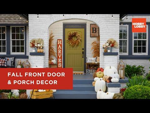 Fall Front Door & Porch Decor | Hobby Lobby®