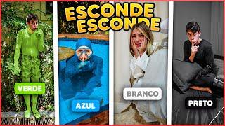 ESCONDE ESCONDE DA COR SORTEADA COM TODOS DA CASA!! ( BRINCADEIRA NOVA ) [ REZENDE EVIL ]