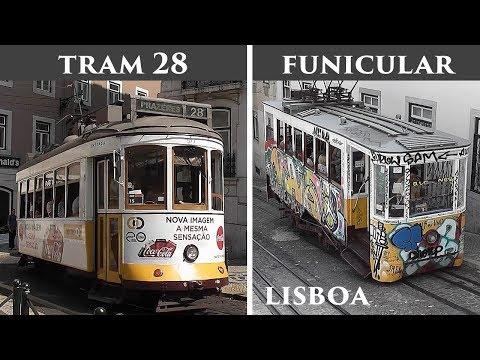 LISBOA: Tram 28 & Glória Funicular (Portugal) HD