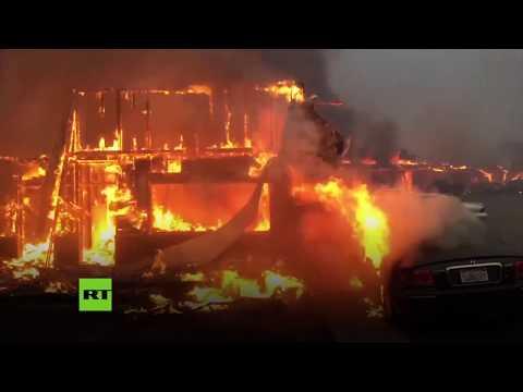 Evacuaciones masivas en California por un incendio masivo
