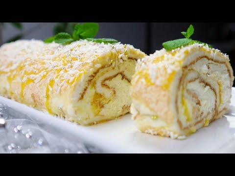 Этот Десерт покорит твое Сердце!МЕРЕНГОВЫЙ Рулет Лимонный/ Наслаждение и так Просто!