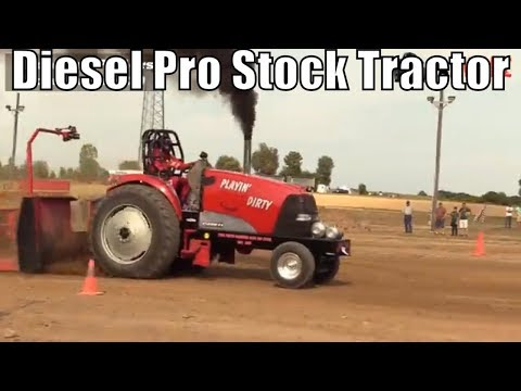 Diesel Pro Stock Tractor Class From TTPA Tractor Pulls In Corunna Michigan 2018