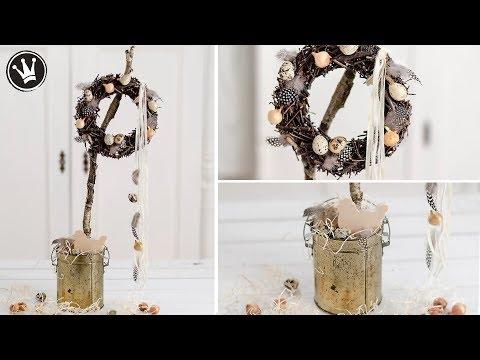 DIY – Frühlingsdeko | Kranz aus Zweigen ganz einfach selber machen | Osterdeko | Centerpiece |