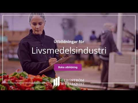 Bergström & Hellqvist, vi erbjuder utbildningar inom kvalitet och livsmedelssäkerhet.