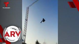 Captan en vídeo cómo un niño sale disparado de una resortera   Al Rojo Vivo   Telemundo