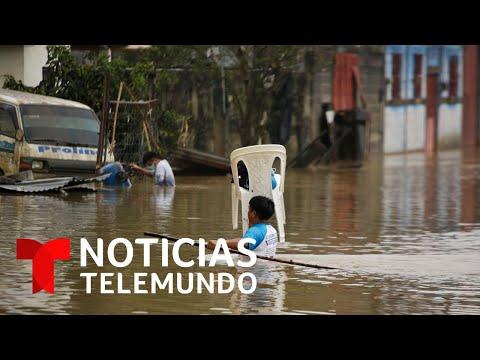 Varias zonas de Guatemala están bajo el agua tras el paso del huracán Eta | Noticias Telemundo