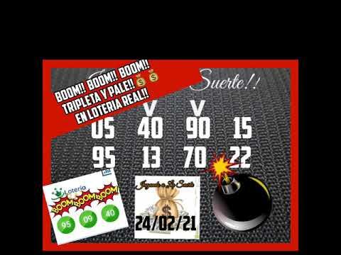 BOOM!!BOOM!! BOOM!!! TRIPLETA Y PALE!! 95 09 40 EN LOTERIA REAL!!