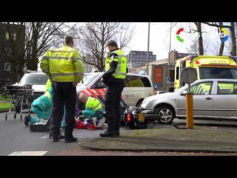 Motorrijder gewond na ongeval Willem Ruyslaan Rotterdam photo