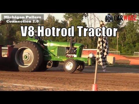 V8 Hotrod Tractor Class At TTPA In Carsonville MI Day 02 2018