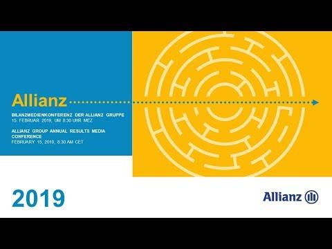Allianz Gruppe Bilanzmedienkonferenz 2019