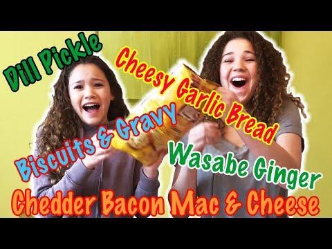 Tasting Weird Chip Flavors! (Haschak Sisters)