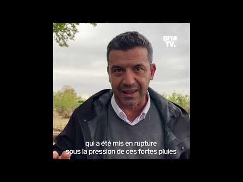 Voitures abandonnées, chaussée effondrée: les images impressionnantes des dégâts dans le Gard