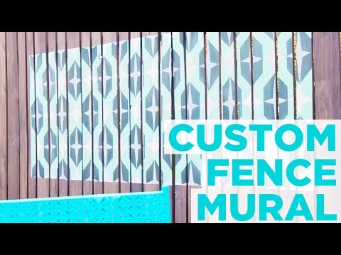 How to Paint a Custom Mural on a Fence - HGTV