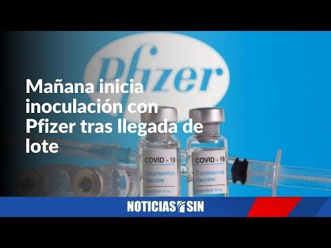 Mañana inicia inoculación con Pfizer tras llegada de lote