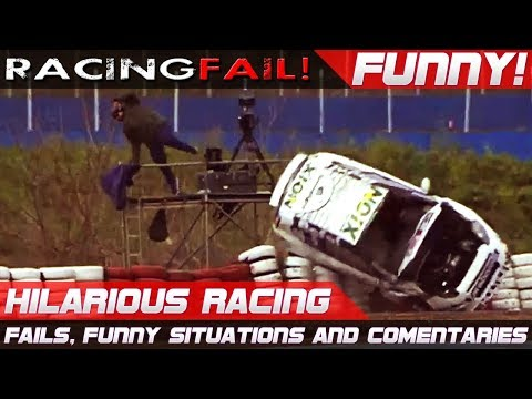 HILARIOUS RACING 2! Best of Fails, Funny Situations and Commentaries of 2017 Compilation