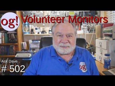 Volunteer Monitors (#502)