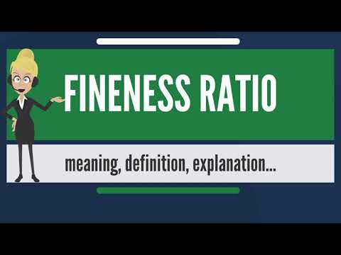 What is FINENESS RATIO? What does FINENESS RATIO mean? FINENESS RATIO meaning & explanation