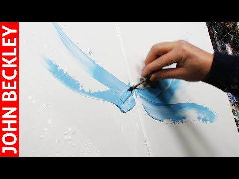 Peinture Abstraite - Démonstration Art Abstrait À l'Acrylique  | Unixia