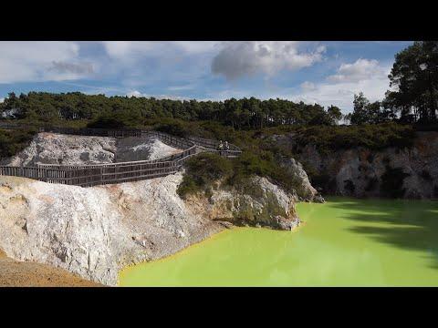 Rotorua Geothermal Area, New Zealand in 4K Ultra HD