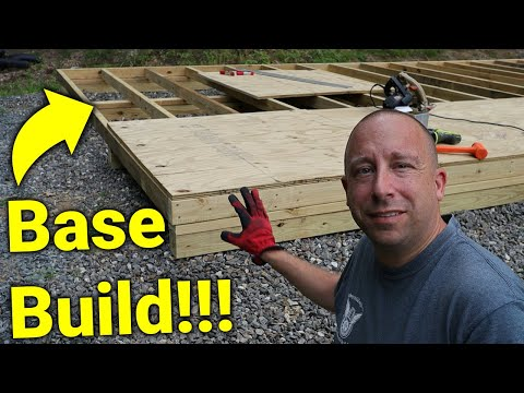 ► How I built a Shed: Shed Floor Build Highlights