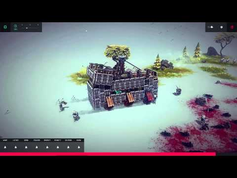 Video: Besiege - Mobile Fortress / Driving Pirate Ship -
