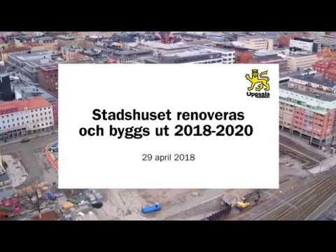 Stadshuset renoveras och byggs ut 2018–2020