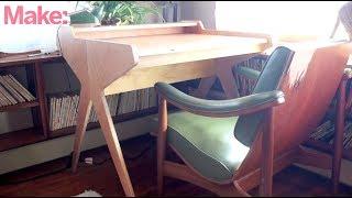 DIY Mid Century Modern CNC Flat Pack Desk