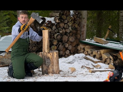 I split 2 YEARS worth of WOOD with this AXE! Heating With WOOD.
