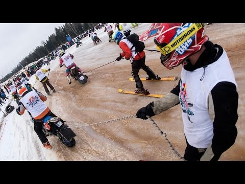 Extreme Ski Racing Behind Motorcycles | Insiders: Twitch 'n Ride