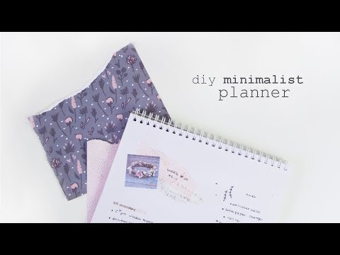 diy minimalist planner || productivity tips